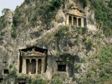 Lycian Tombs, Fethiye, Anatolia, Turkey, Eurasia Photographic Print by Marco Simoni