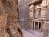 The Treasury (El Khazneh), Petra, Unesco World Heritage Site, Jordan, Middle East Photographic Print by Bruno Morandi