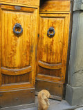 Wooden Doors, Radda in Chianti, Siena Province, Tuscany, Italy Photographic Print by Bruno Morandi