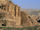 El Deir, Nabatean Archaeological Site, Petra, Unesco World Heritage Site, Jordan Photographic Print by Bruno Morandi
