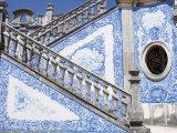 Mosaic Staircase, Estoi Palace, Estoi, Algarve, Portugal Photographic Print by Marco Simoni
