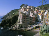 Village of Riomaggiore, Cinque Terre, Unesco World Heritage Site, Liguria, Italy Photographic Print by Bruno Morandi