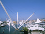 Bigo by Renzo Piano, Porto Antico, Port Area, Genoa (Genova), Liguria, Italy Photographic Print by Bruno Morandi