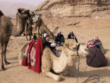 Group of Bedouin and Camels, Wadi Rum, Jordan, Middle East Photographic Print by Bruno Morandi
