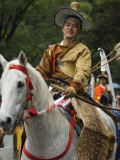 Traditional Costume and Horse, Ceremony for Archery Festival, Tokyo, Japan Photographic Print by Christian Kober