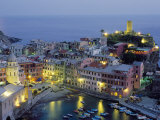 Village of Vernazza in the Evening, Cinque Terre, Unesco World Heritage Site, Liguria, Italy Photographic Print by Bruno Morandi
