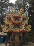 Temple in Cedar Forest, Alishan National Forest Recreation Area, Chiayi County, Taiwan Photographic Print by Christian Kober