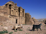 El Deir (Ed-Deir) (The Monastery), Petra, Unesco World Heritage Site, Jordan, Middle East Photographic Print by Bruno Morandi