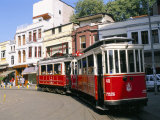 Trams on Istikal Cad, Beyoglu Quarter, Istanbul, Turkey Photographic Print by Bruno Morandi