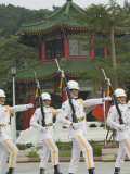 Changing of the Guards Ceremony, Martyrs Shrine, Taipei City, Taiwan Photographic Print by Christian Kober