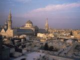 City Skyline Including Omayyad Mosque and Souk, Damascus, Syria, Middle East Fotografie-Druck von Bruno Morandi