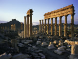 Archaeological Site, Palmyra, Unesco World Heritage Site, Syria, Middle East Photographic Print by Bruno Morandi