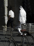 Bicycle and Arab Man, Damascus, Syria, Middle East Photographic Print by Christian Kober