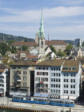 Old Town Houses on the Limmat River, Zurich, Switzerland Photographic Print by Christian Kober