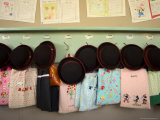 Student Hats and Bags Hanging Up, Elementary School, Tokyo, Honshu, Japan Photographic Print by Christian Kober
