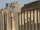 Qala'At Ibn Maan Citadel Castle and Archaelogical Ruins, Palmyra, Unesco World Heritage Site, Syria Photographic Print by Christian Kober