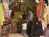 Fabric Store, Market Souq Area, Aleppo (Haleb), Syria, Middle East Photographic Print by Christian Kober