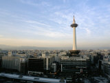Kyoto Tower and City Skyline, Kyoto, Japan Photographic Print by Christian Kober