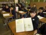 Students in Class, Elementary School, Tokyo, Honshu, Japan Photographic Print by Christian Kober