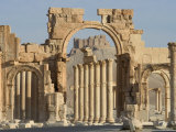 Qala'at Ibn Maan Castle Seen Through Monumental Arch, Archaelogical Ruins, Palmyra, Syria, Photographic Print