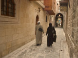 Syrian Women Walking Through Old Town, Al-Jdeida, Aleppo (Haleb), Syria, Middle East Photographic Print by Christian Kober