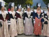 People in Traditional Costumes from Several Regions, Interlaken, Switzerland Photographic Print by Christian Kober