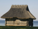 Traditional Thatched Roof Farmhouse, National Open Air Museum, Rocca Al Mar, Tallinn, Estonia Photographic Print by Christian Kober