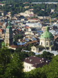 Old Town Including Dominican Church and Monastery, Seen from Castle Hill, Lviv Photographic Print by Christian Kober