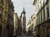 Old Town and 14th Century St. Mary's Church, Krakow (Cracow), Poland Photographic Print by Christian Kober