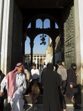 People Walking in and out of Umayyad Mosque, Damascus, Syria, Middle East Photographic Print by Christian Kober