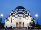 St. Sava Orthodox Church, Dating from 1935, Biggest Orthodox Church in the World, Belgrade, Serbia Fotografie-Druck von Christian Kober
