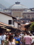 Bascarsija Old Turkish Quarter and Tourist Area, Sarajevo, Bosnia Photographic Print by Christian Kober