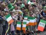 St. Patrick's Day Parade Celebrations, Dublin, Republic of Ireland (Eire) Reprodukcja zdjęcia autor Christian Kober