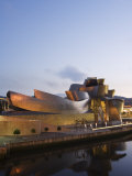Guggenheim Modern Art Museum Designed by Frank Gehry, Bilbao, Basque Country, Euskadi, Spain Photographic Print by Christian Kober