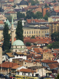 Panoramic Hilltop View of the City, Sarajevo, Bosnia Photographic Print by Christian Kober