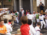 San Fermin, Running of the Bulls Festival, Pamplona, Navarra, Euskadi, Spain Photographic Print by Christian Kober