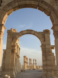 Monumental Arch, Archaelogical Ruins, Palmyra, Unesco World Heritage Site, Syria, Middle East Photographic Print by Christian Kober