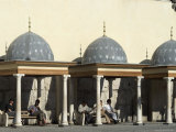 Rest Area Outside Umayyad Mosque, Damascus, Syria, Middle East Photographic Print by Christian Kober