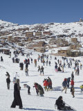 Skiers, Oukaimeden Ski Resort, Morocco, North Africa, Africa Photographic Print by Christian Kober