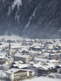 Village of Mayrhofen Ski Resort, Zillertal Valley, Austrian Tyrol, Austria Photographic Print by Christian Kober