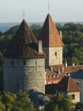City Wall Towers, Old Town, Unesco World Heritage Site, Tallinn, Estonia, Baltic States Photographic Print by Christian Kober