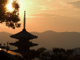 Sunset, Yasaka No to Pagoda, Kyoto City, Honshu, Japan Photographic Print by Christian Kober