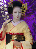 Geisha, Maiko in Gion, Kyoto City, Honshu, Japan Photographie par Christian Kober