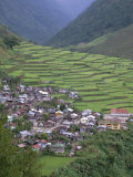 Rice Terraces and Village, Banaue, Unesco World Heritage Site, Luzon, Philippines Photographic Print by Christian Kober