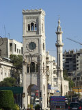 Clock Tower and Mosque Minaret, Hama, Syria, Middle East Photographic Print by Christian Kober