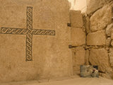 Wall Mosaic and Photo of Pope John Paul II, Mount Nebo, Jordan Photographic Print by Christian Kober