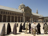 Pilgrims at Umayyad Mosque, Unesco World Heritage Site, Damascus, Syria, Middle East Photographic Print by Christian Kober