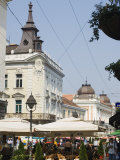 Outdoor Cafes on Kneza Mihailova Pedestrian Boulevard, Belgrade, Serbia Photographic Print by Christian Kober