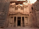 Morning Light on the Treasury, Petra, UNESCO World Heritage Site, Wadi Musa, Jordan, Photographic Print