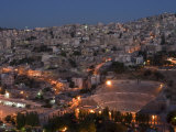 Roman Theatre at Night, Amman, Jordan, Middle East Photographic Print by Christian Kober